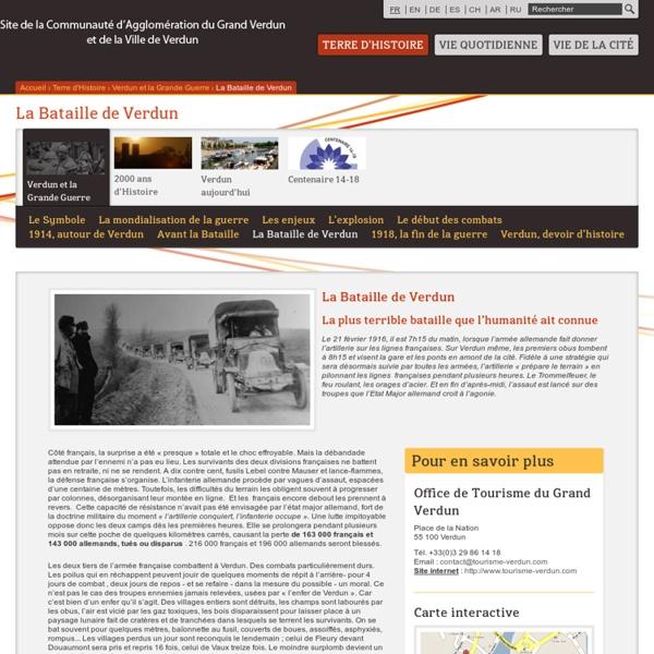 La Bataille de Verdun / Verdun et la Grande Guerre / Terre d'Histoire - Mairie de Verdun