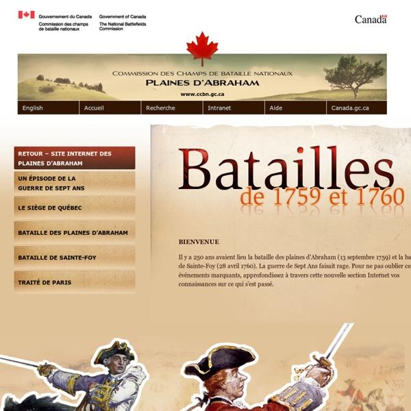 Batailles de 1759 et 1760