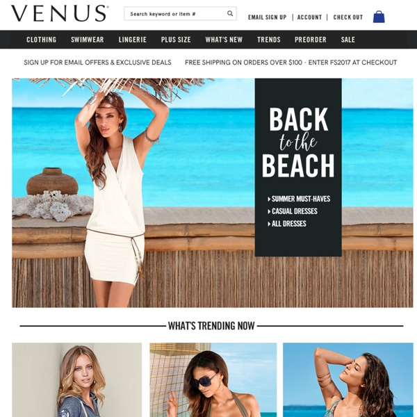 Women's Bathing Suits, Bikinis, Clothing - VENUS Fashion
