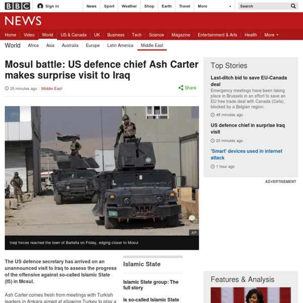 Mosul battle: US defence chief Ash Carter makes surprise visit to Iraq