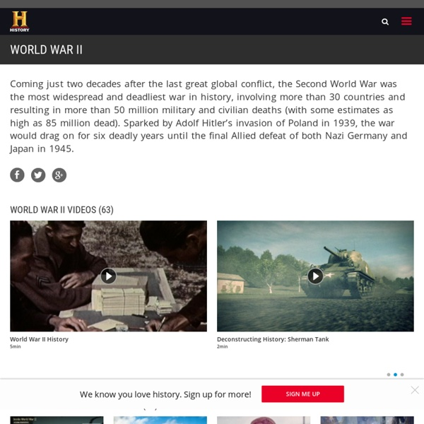 World War II - Battles, Facts, Videos & Pictures - History.com