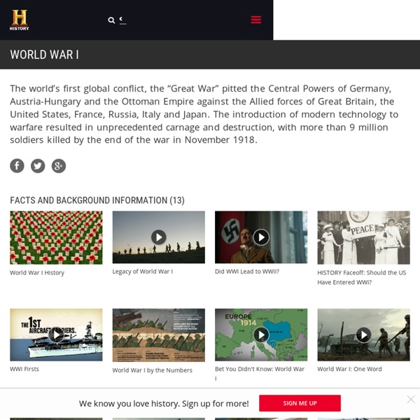 World War I - Battles, Facts, Videos & Pictures - History.com