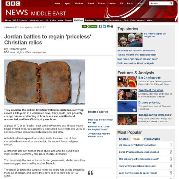 Jordan battles to regain 'priceless' Christian relics