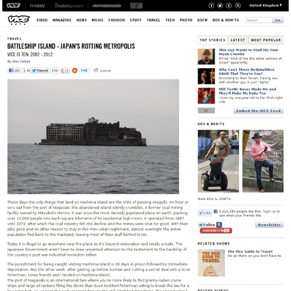 Battleship Island - Japan's rotting metropolis « Viceland.com