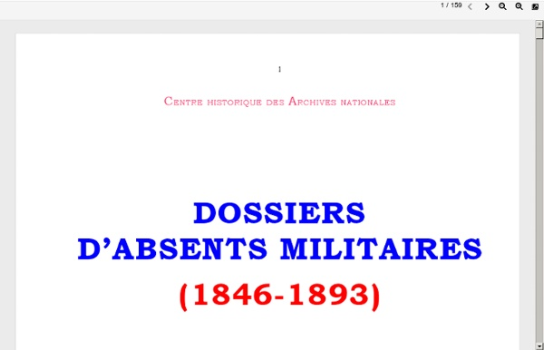 Absents militaires 1846-1893