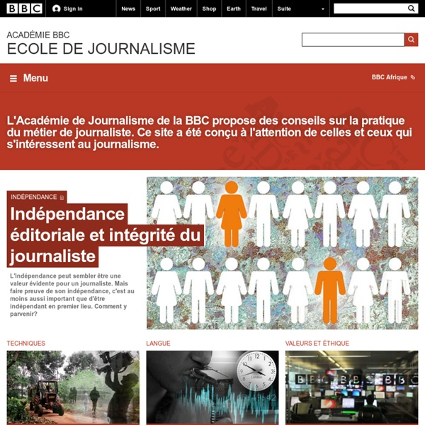 BBC Academy - Page d'accueil