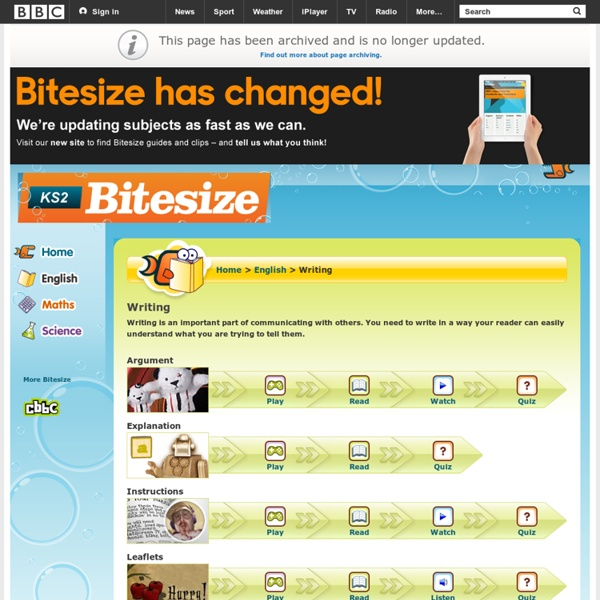 KS2 Bitesize English - Writing