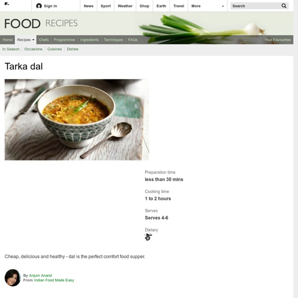 Food - Recipes : Tarka dal