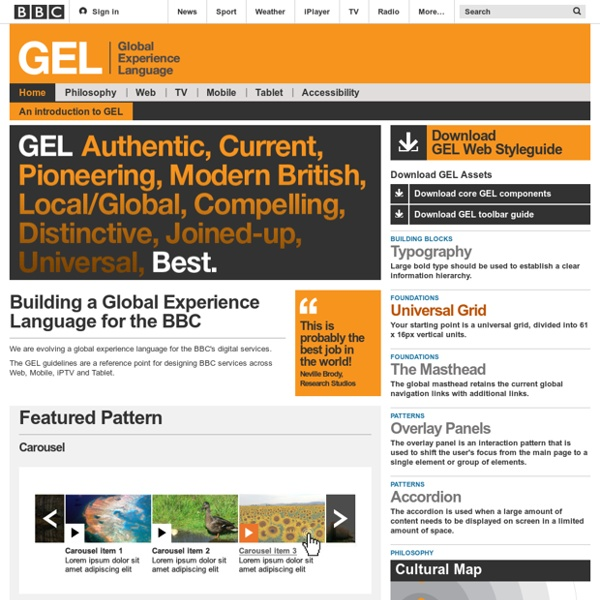GEL (Global Experience Language)