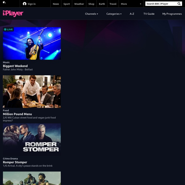 BBC iPlayer - iPlayer TV Home