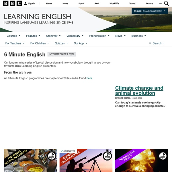 BBC Learning English - 6 Minute English