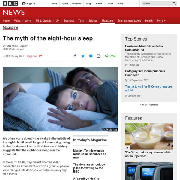 The eight-hour sleep myth