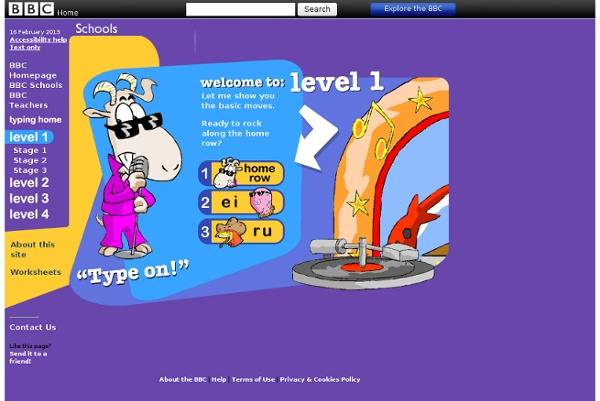Schools - Dance Mat Typing - Level 1 | Pearltrees