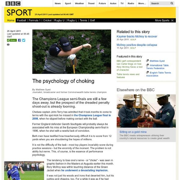 The psychology of choking
