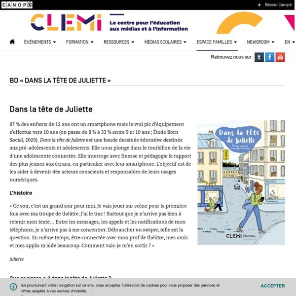"""BD """" Dans la tête de Juliette """"- CLEMI"""
