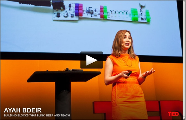 Ayah Bdeir: Building blocks that blink, beep and teach