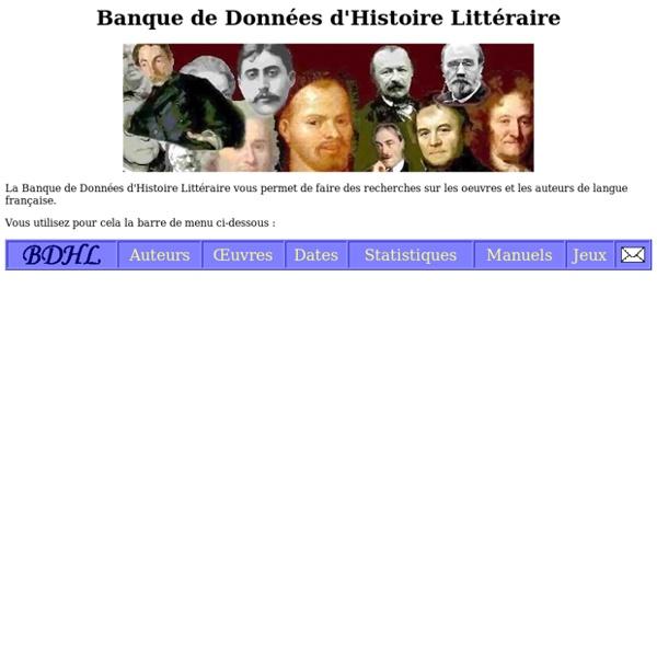 BDHL: banque de données sur les auteurs et les oeuvres