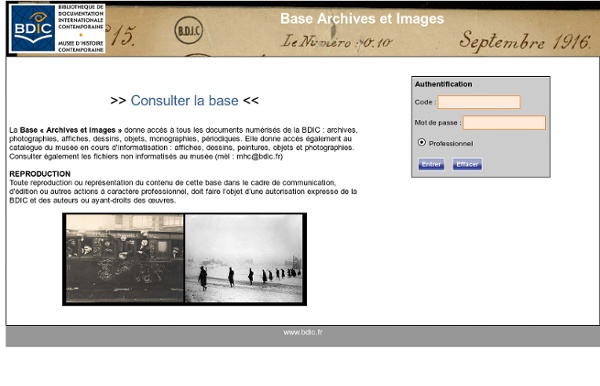 BDIC : Base Archives et images