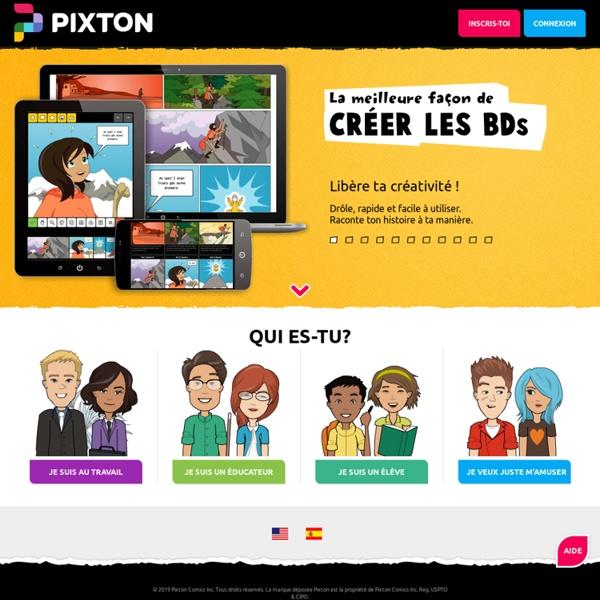 Pixton - Faire un dessin - Créer une BD
