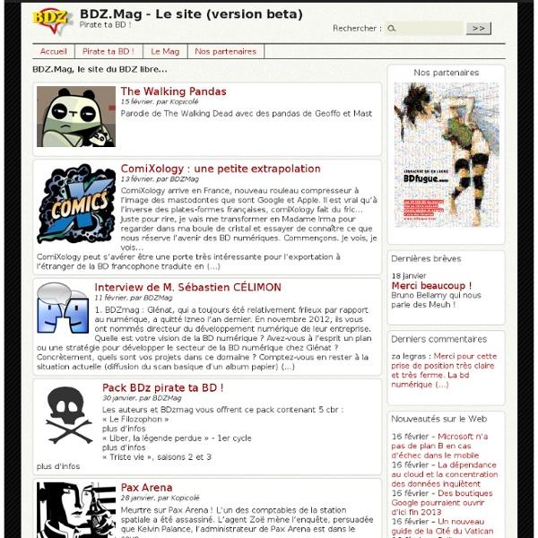 BDzmag, Le magazine impertinent qui cause de bulles et de pixels
