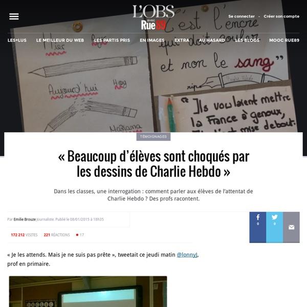 Parler de Charlie Hebdo à l'école: «Ils sont intelligents, mes élèves» - Rue89 - L'Obs