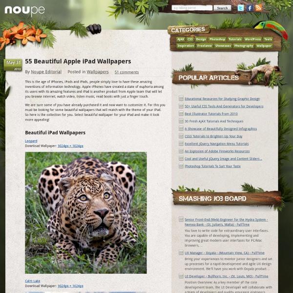 55 Beautiful Apple iPad Wallpapers
