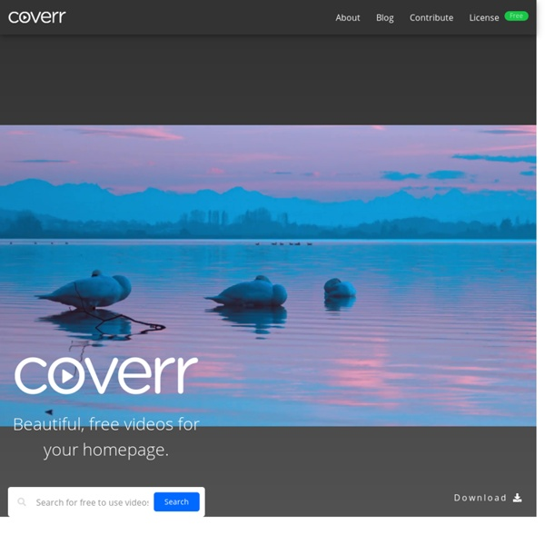 Coverr - Beautiful, free videos for your homepage