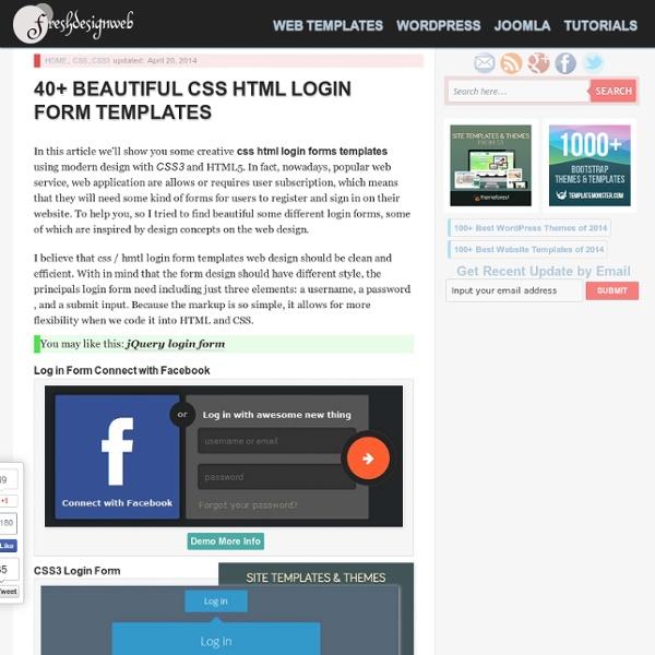 40+ Beautiful CSS HTML Login Form Templates