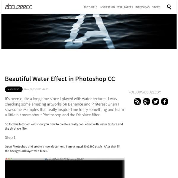 Beautiful Water Effect in Photoshop CC