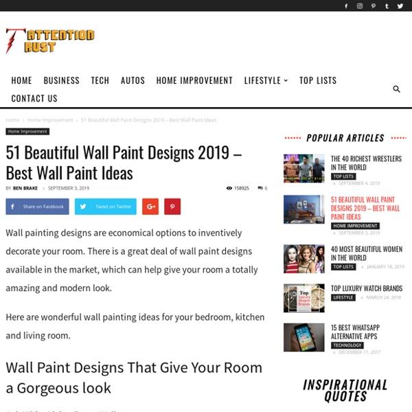 30 Beautiful Wall Paint Designs - Best Wall Paint Ideas 2018
