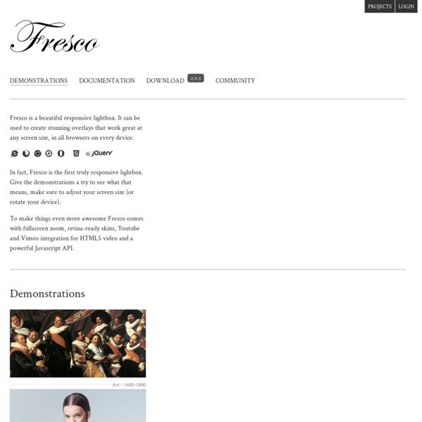 Fresco - A Beautiful Responsive Lightbox
