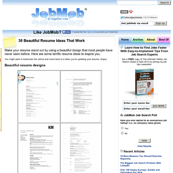 36 beautiful resume ideas that work pearltrees