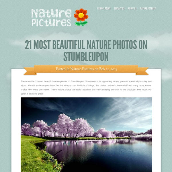 21 Most Beautiful Nature Photos On Stumbleupon