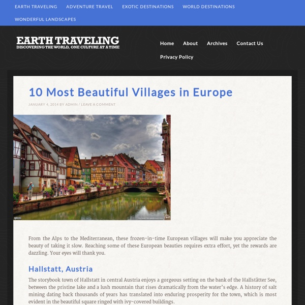10 Most Beautiful Villages in Europe