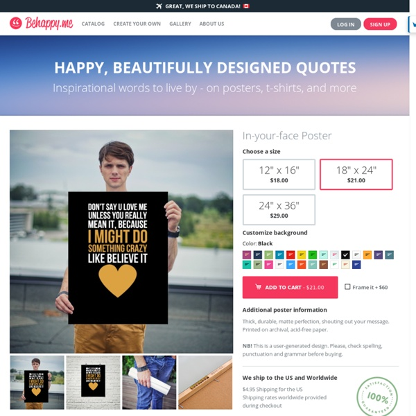 Happy, beautifully designed quotes - Behappy.me (264480 quotes)