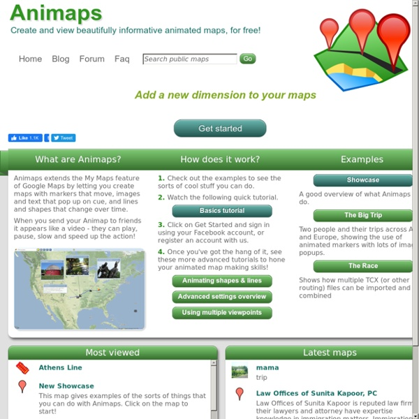 Animaps - Create and view beautifully informative animated maps, for free!