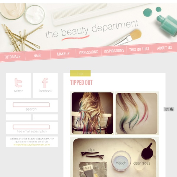 TIPPED OUT - thebeautydepartment.com - StumbleUpon