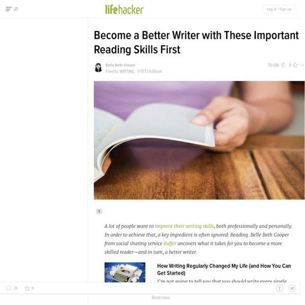 Become a Better Writer with These Important Reading Skills First