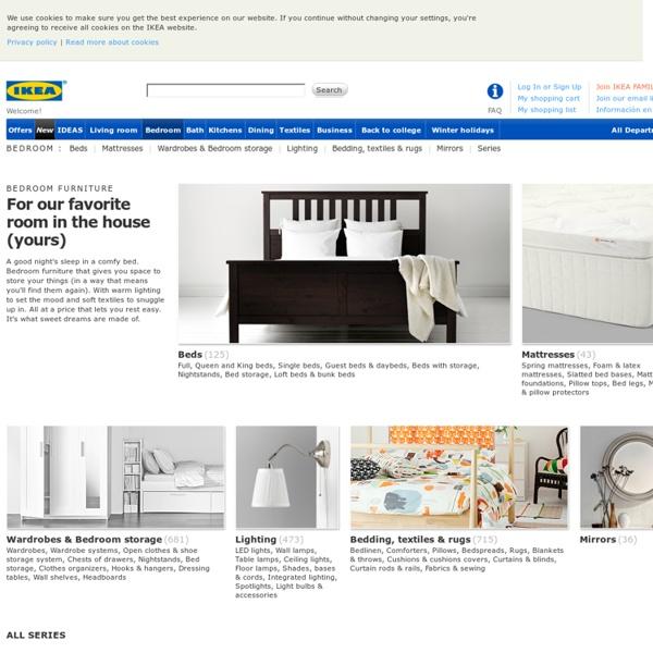 MALM 3-piece headboard/bed shelf set - black-brown, Full/Double