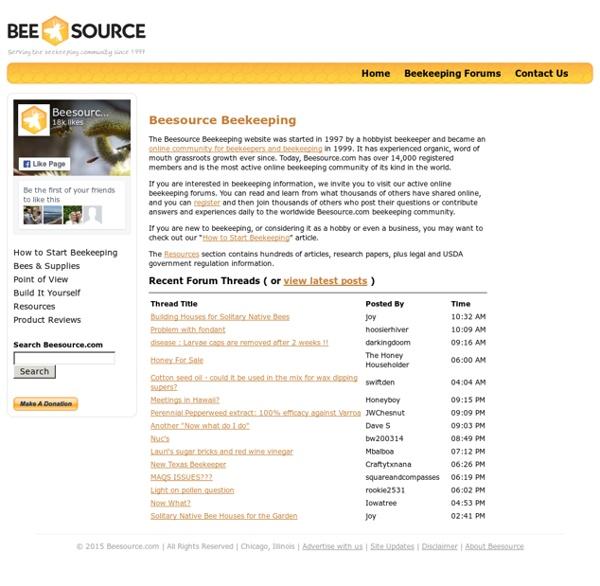 Beesource.com - Beekeeping resources for beekeepers since 1997!
