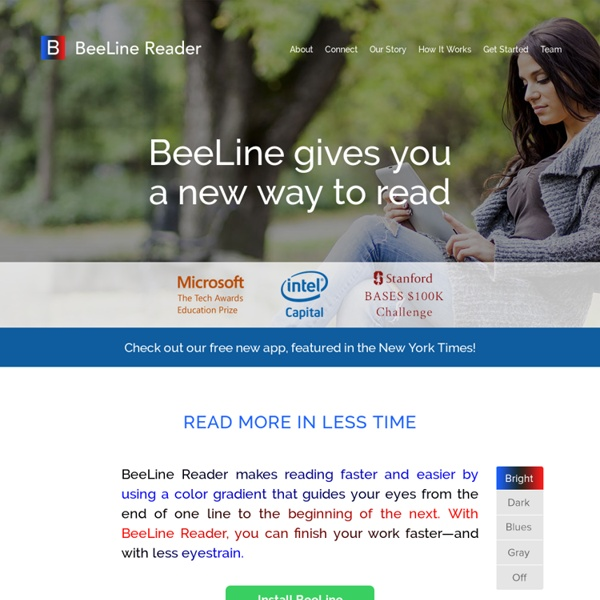 BeeLine Reader: BeeLine Reader adds a color gradient to text to help you read faster and more accurately.