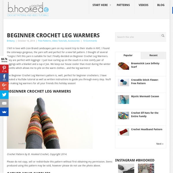 Beginner Crochet Leg Warmers Video Tutorial and Free Pattern ... 14b8cccada0