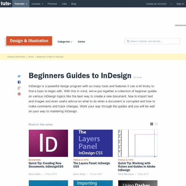Beginners Guides to InDesign