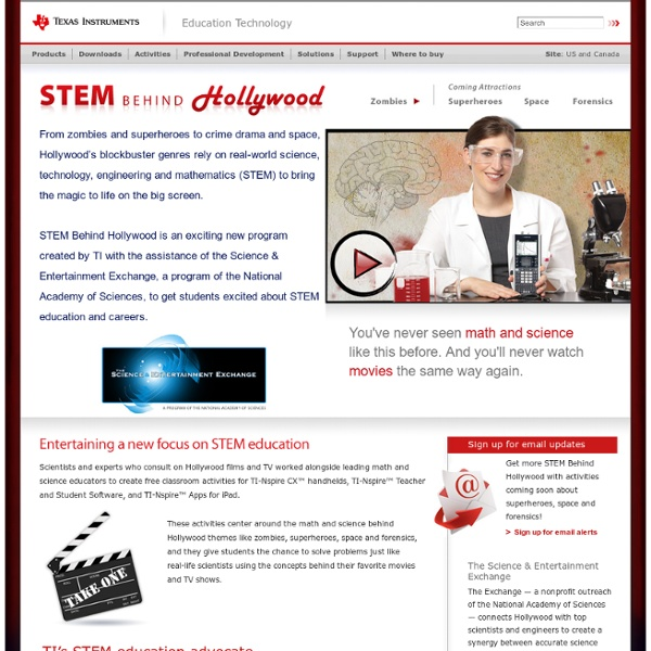 STEM Behind Hollywood by Texas Instruments