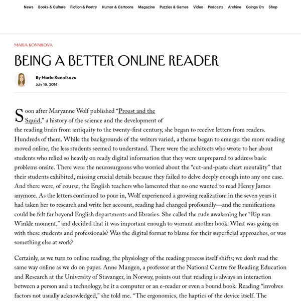 ARTICLE: Being a Better Online Reader - New Yorker