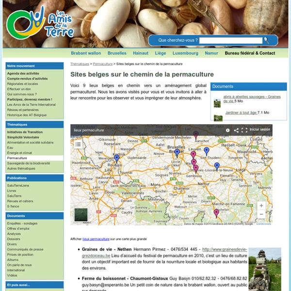Sites belges sur le chemin de la permaculture - rubrique