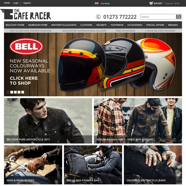 The Cafe Racer: Belstaff Motorcycle Jackets