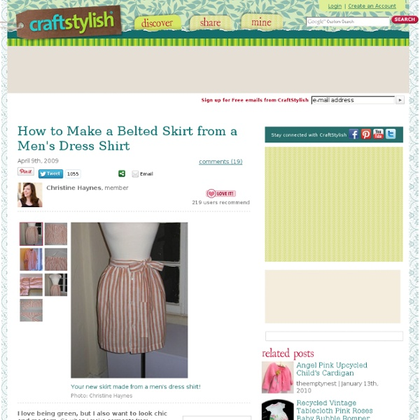 How to Make a Belted Skirt from a Men's Dress Shirt