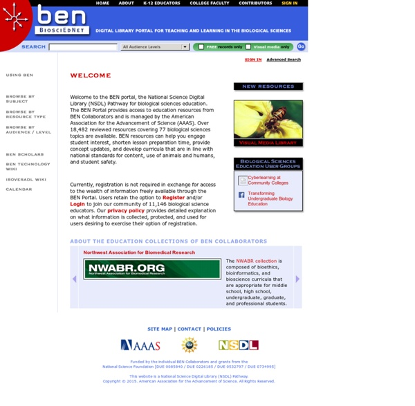 A Digital Library of the Biological Sciences for Biology Teaching.