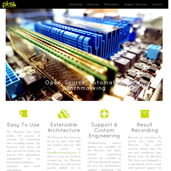 Phoronix Test Suite - Linux Testing & Benchmarking Platform, Automated Testing, Open-Source Benchmarking